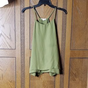 Stella Luce Olive Green Round Neck Blouse Tank Top